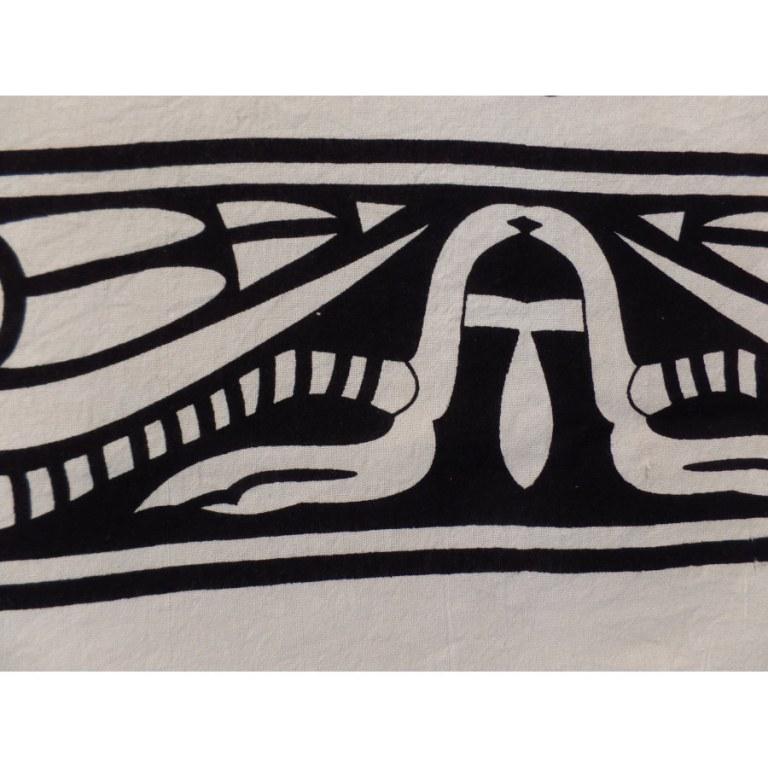 Tenture noir et blanc danse tribale