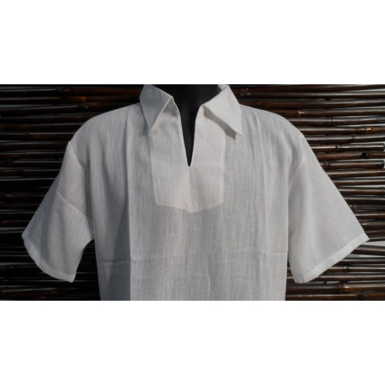 Chemise blanche col