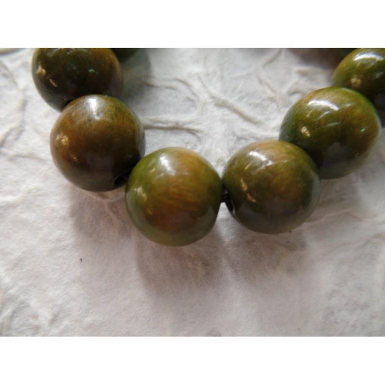 Bracelet tibétain perles olive