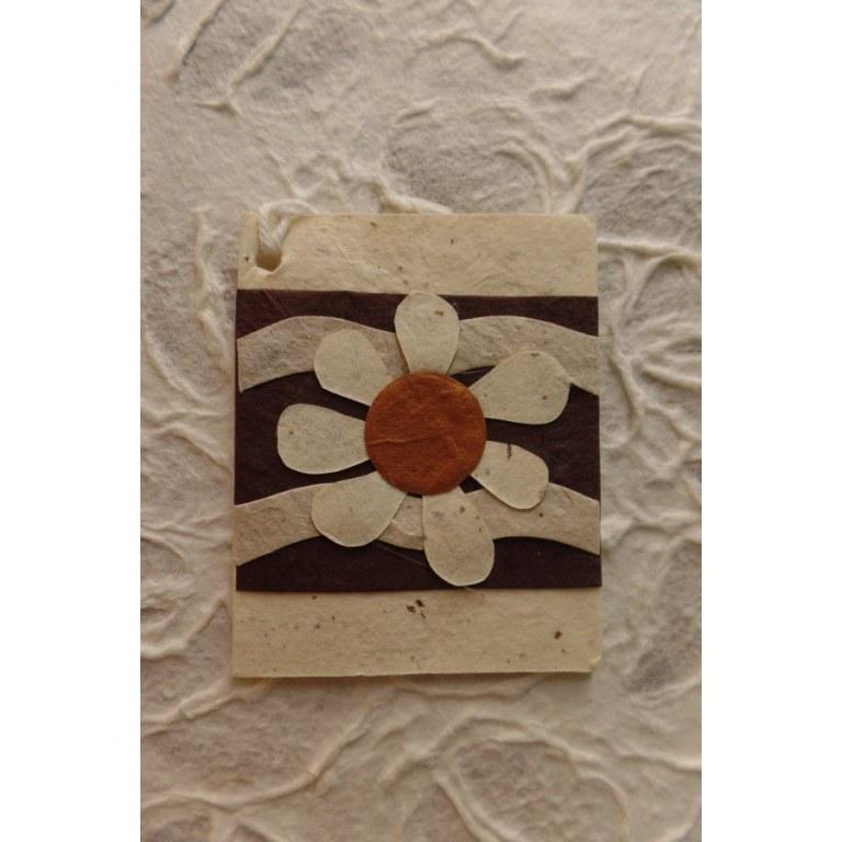 Mini carte fleur soleil