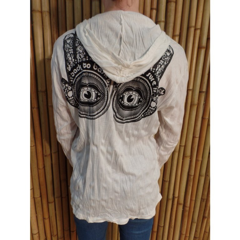 T shirt manches longues blanc 4 khamsa