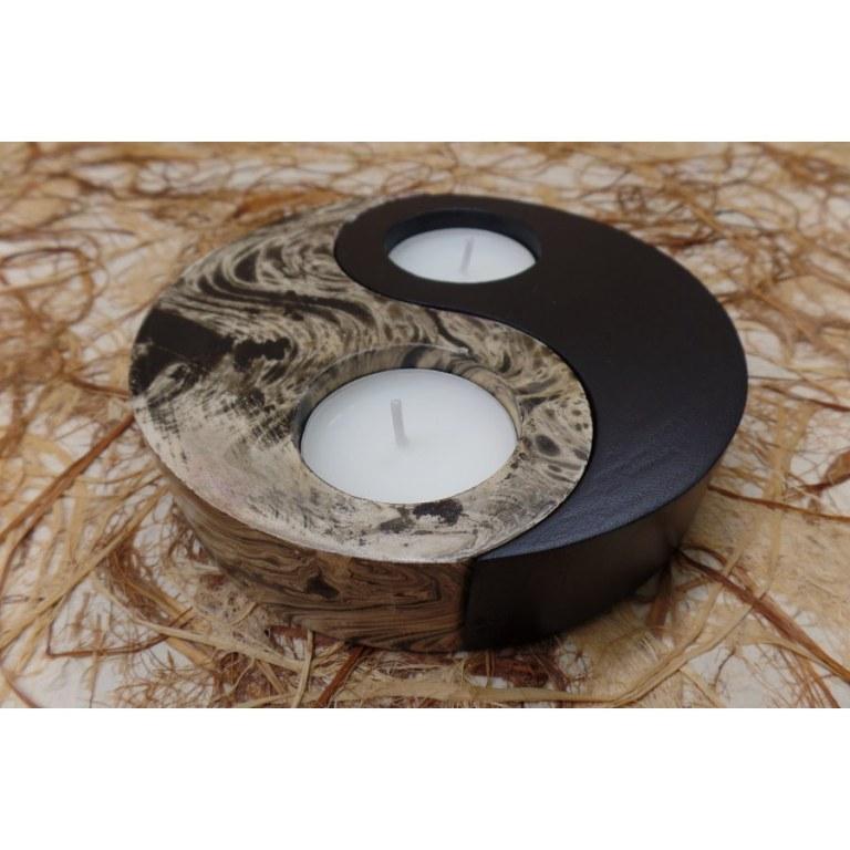 Bougeoir yin yang 2 couleurs