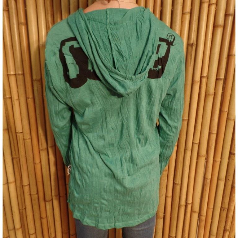 T shirt manches longues vert little Ganesha
