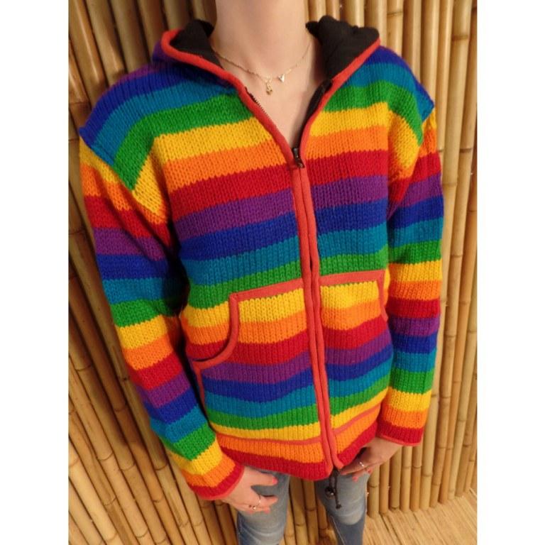 Veste rayée Antisana rainbow