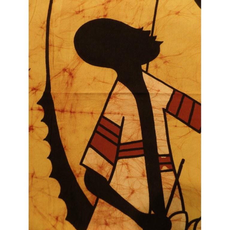 Batik jaune/marron sous le palmier
