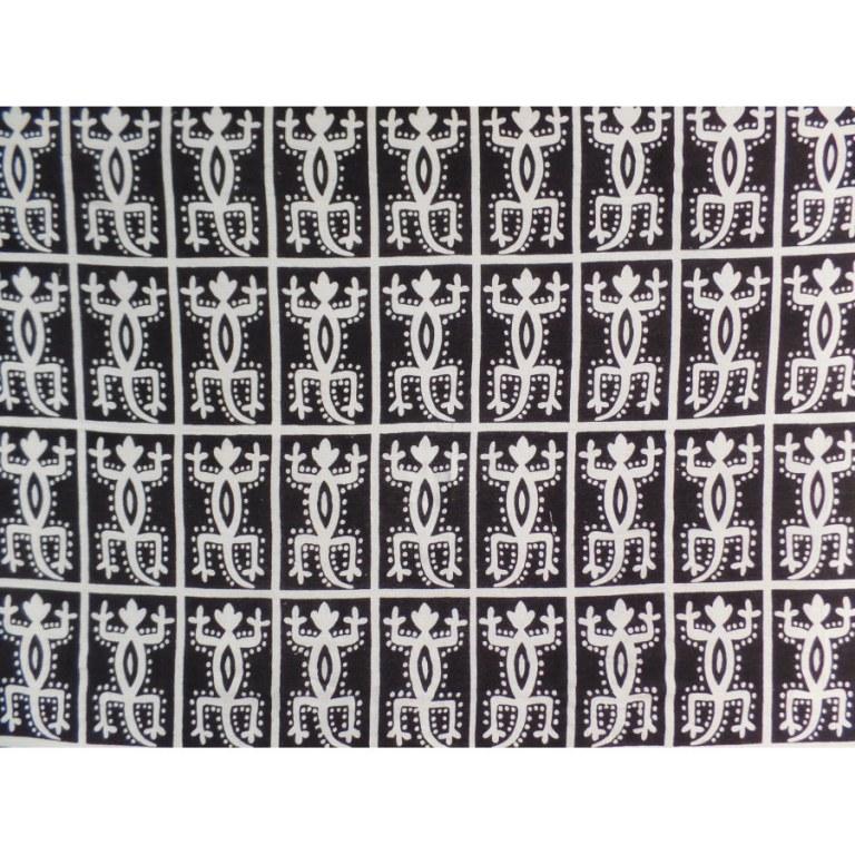 Tenture noir et blanc les 48 lézards