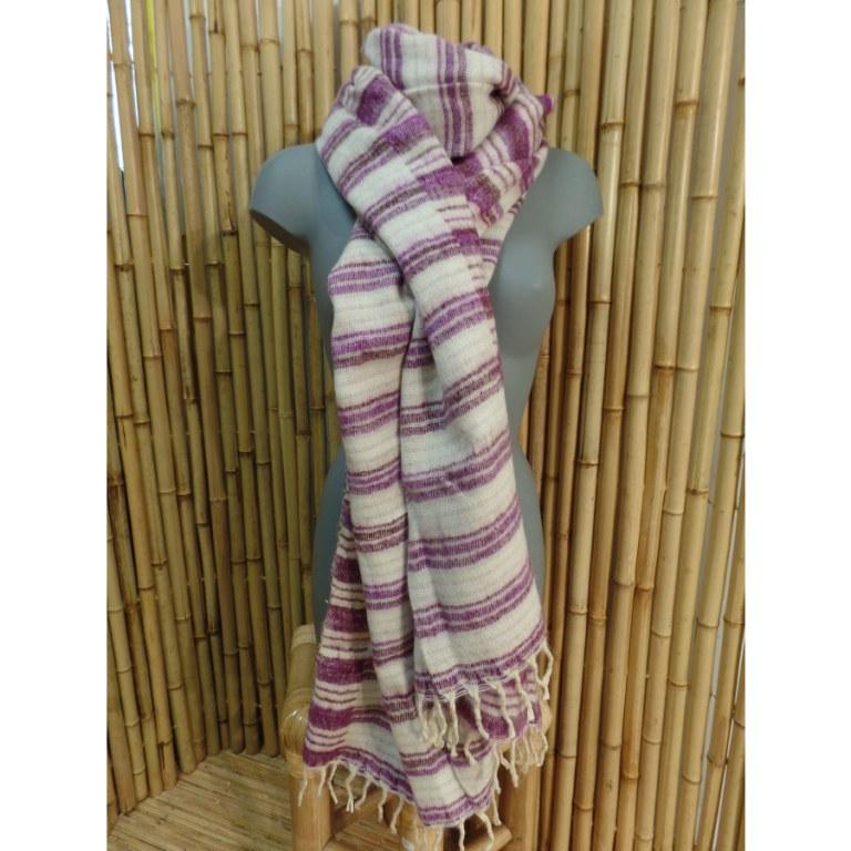 Couverture zen blanc/purple