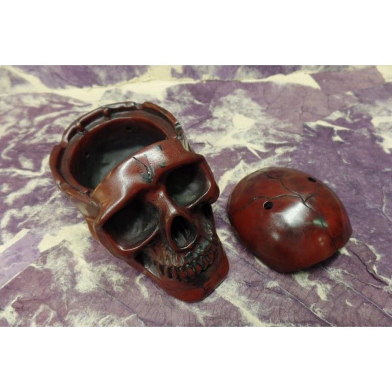 Cendrier marron foncé crâne amovible