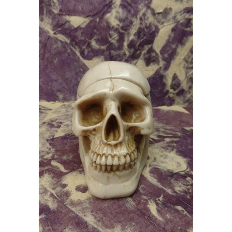 Cendrier blanc crâne amovible