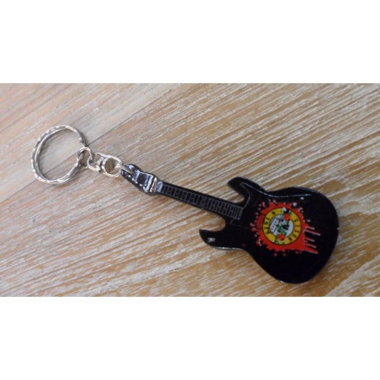 Porte clés noir guitare Guns N' Roses