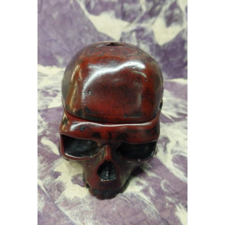 Cendrier marron 1/2 crâne amovible