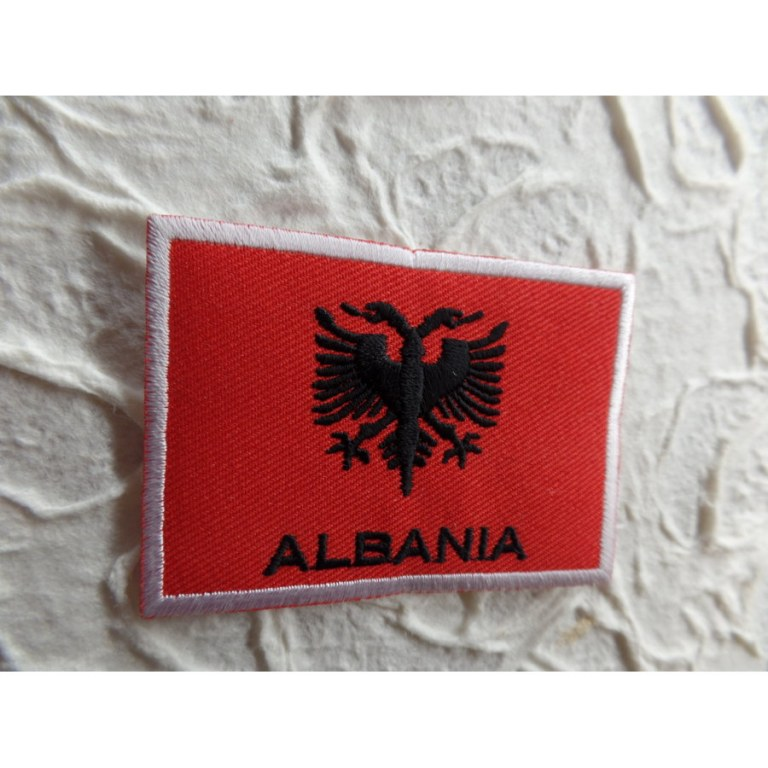 Ecusson drapeau Albanie