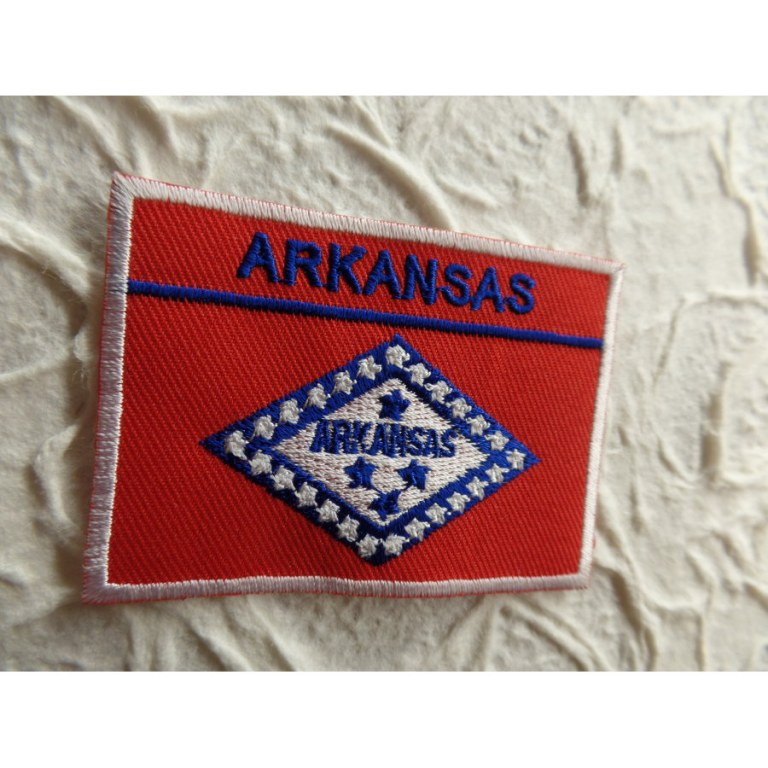 Ecusson drapeau Arkansas