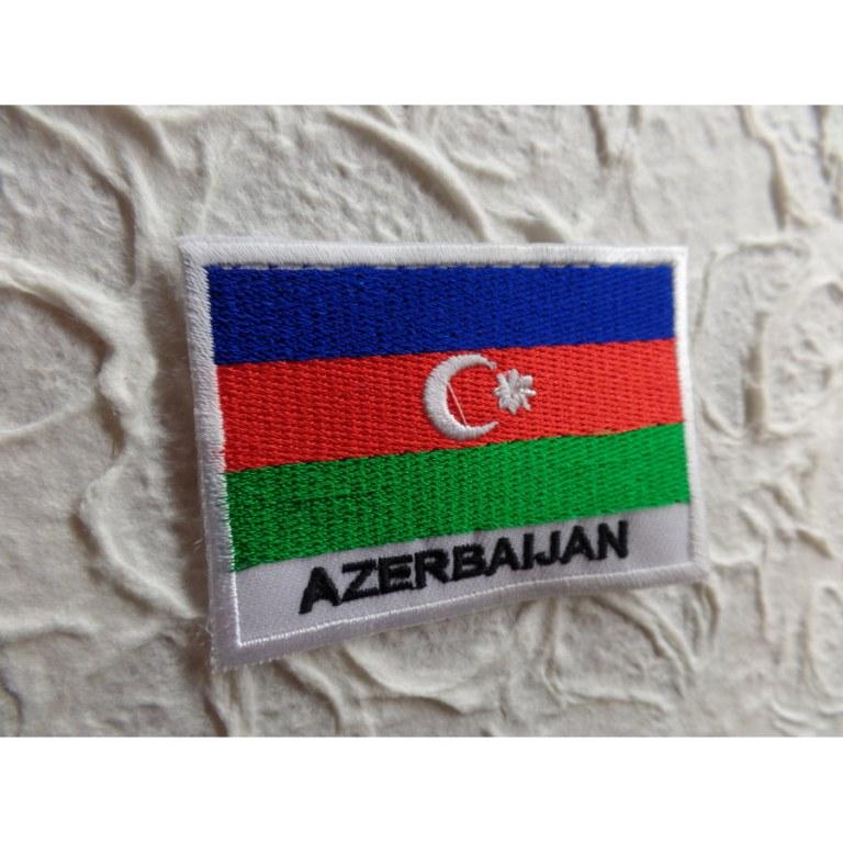 Ecusson drapeau Azerbaïdjan