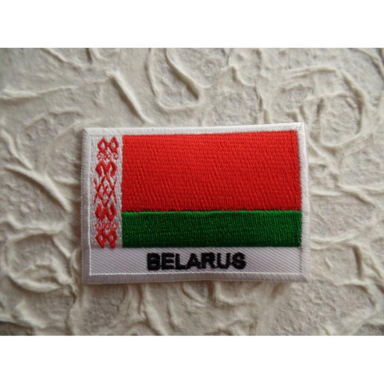 Ecusson drapeau Biélorussie