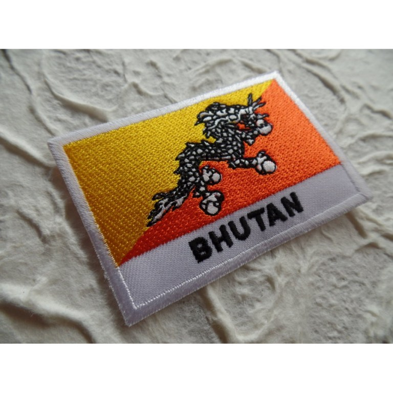Ecusson drapeau Bhoutan