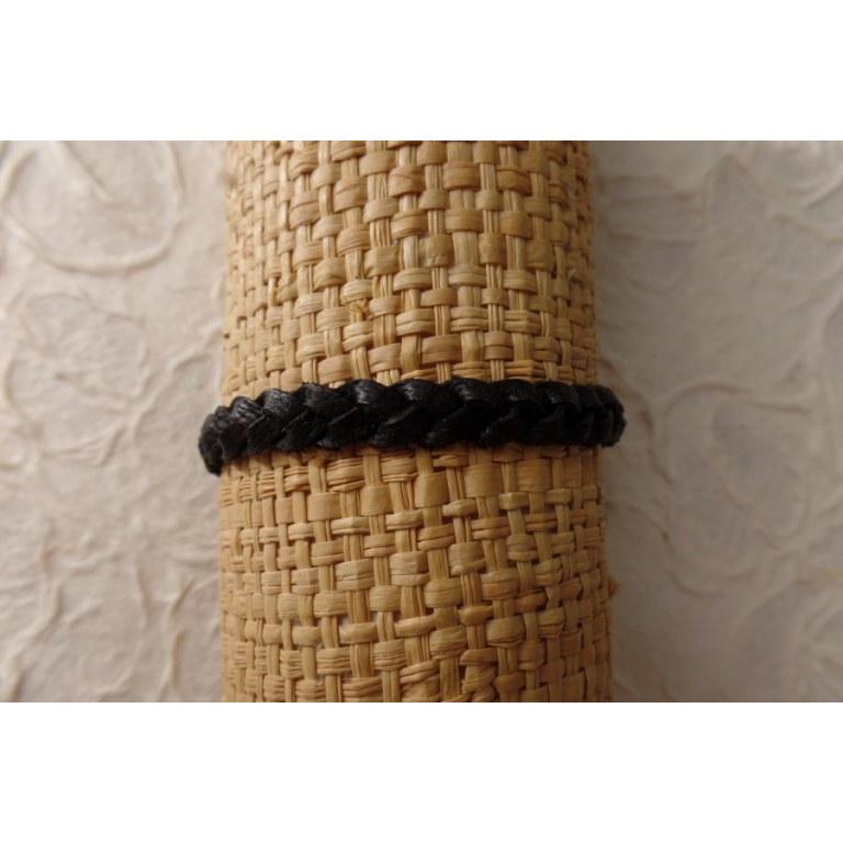 Bracelet cuir noir