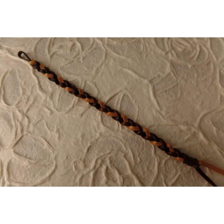 Bracelet cuir bicolore 3