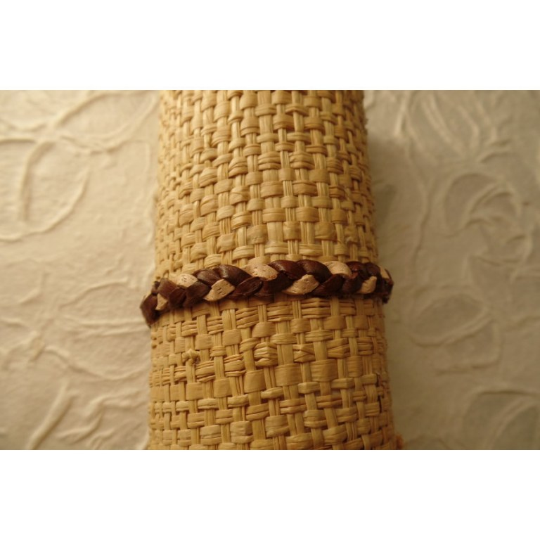 Bracelet cuir bicolore 4