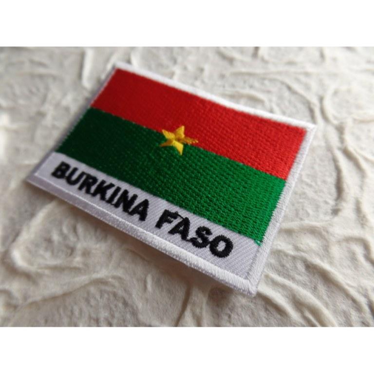 Ecusson drapeau Burkina Faso