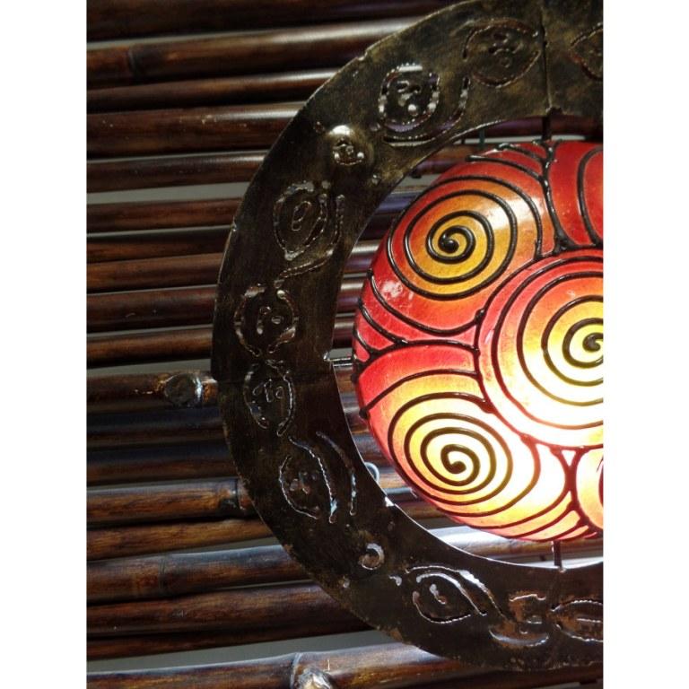 Lampe murale ronde spirales