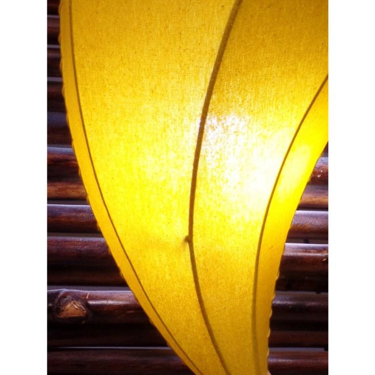 Applique murale corne d'abondance jaune