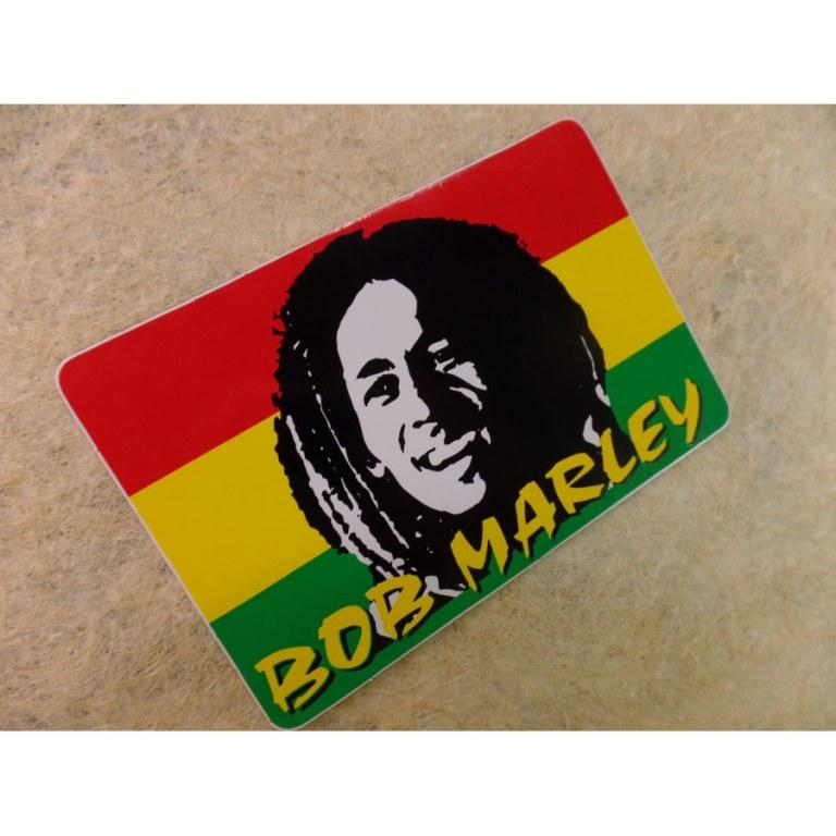 Autocollant rectangle Bob Marley 2