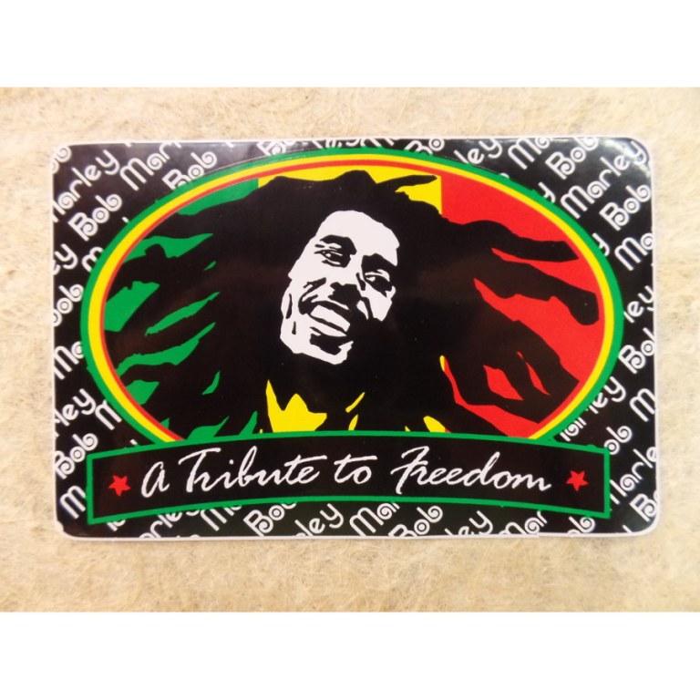 Autocollant rectangle Bob Marley 3