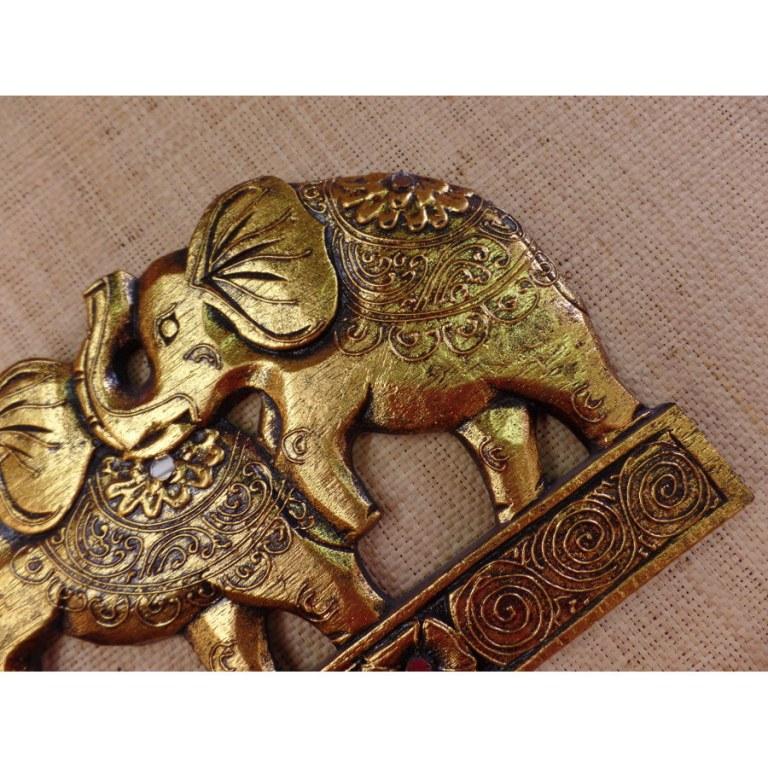 Tableau les 3 éléphants dorés