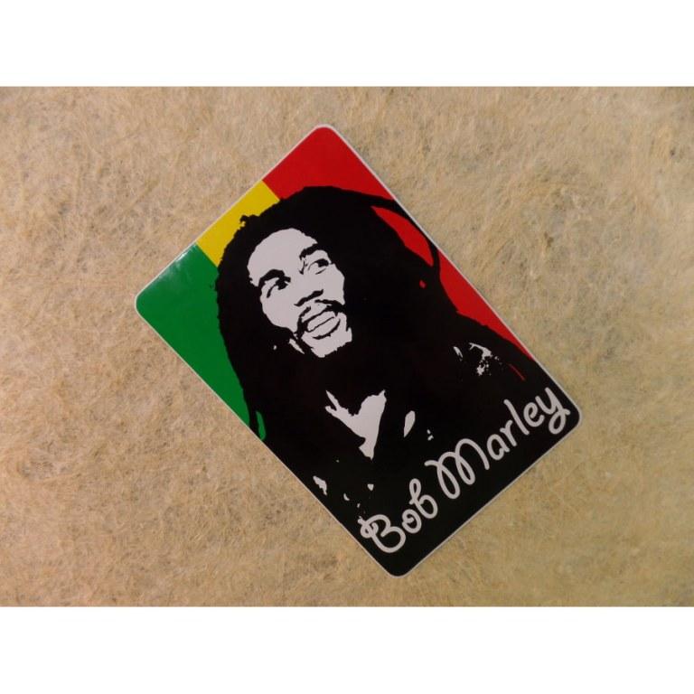 Autocollant rectangle Bob Marley 4