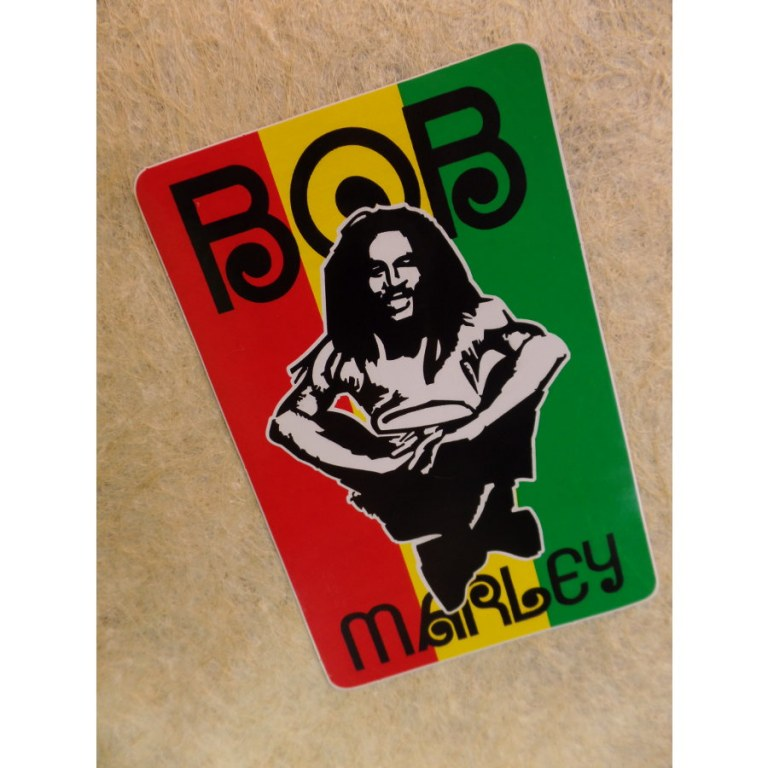 Autocollant rectangle Bob Marley 1