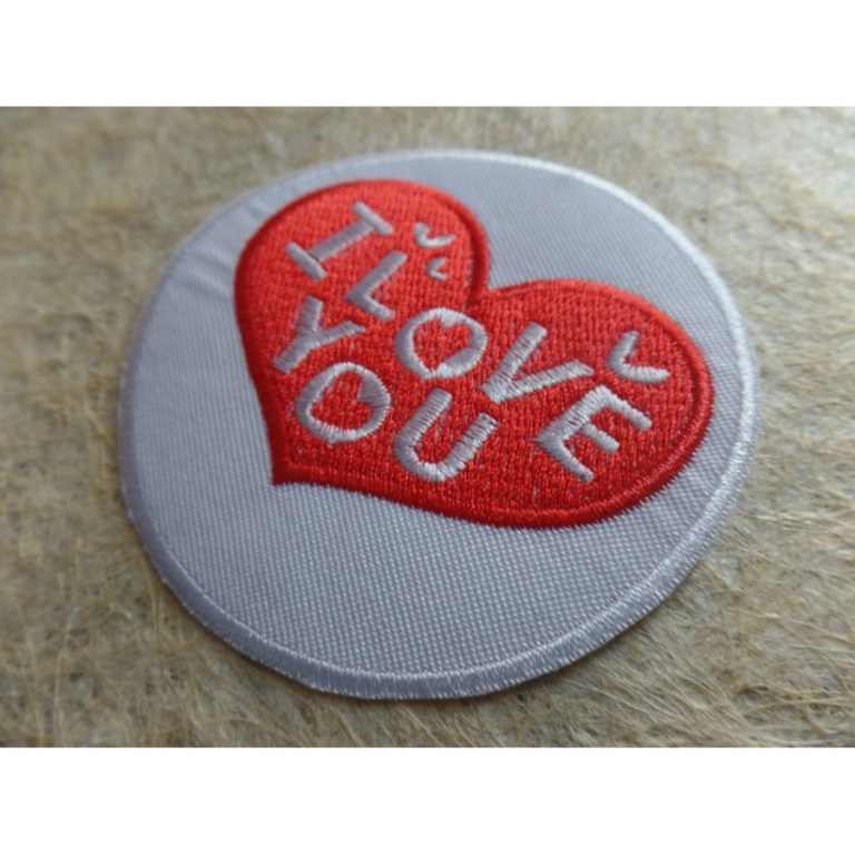 Patch coeur I love you