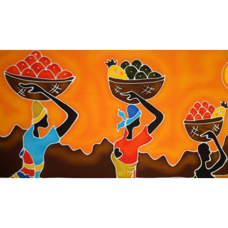 Tenture Vanuatu retour de marché