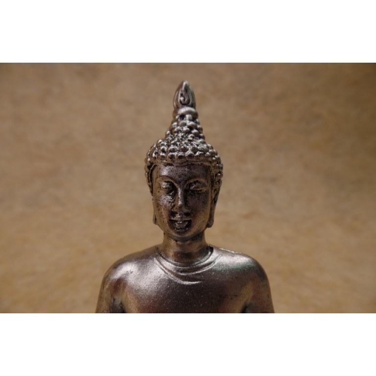 Porte encens gris Bouddha en méditation