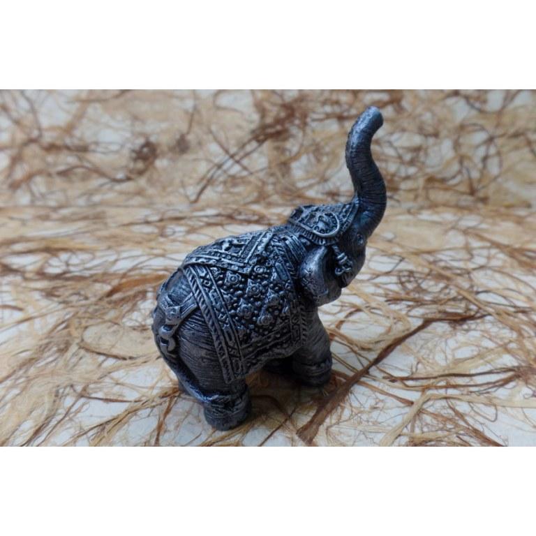 Eléphant Chang gris argent