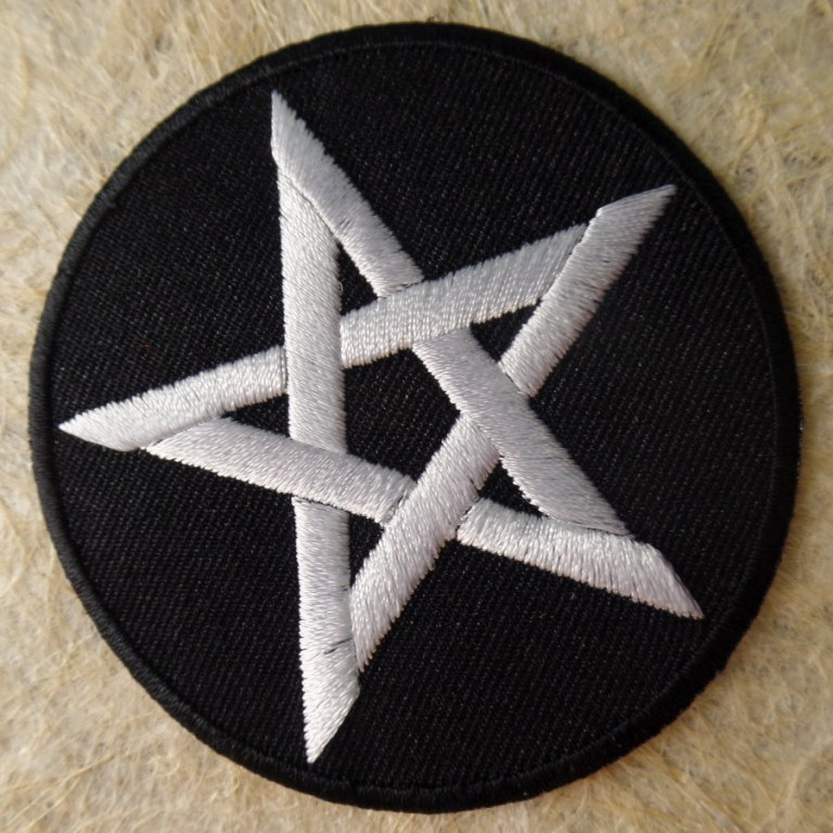 Patch pentacle blanc