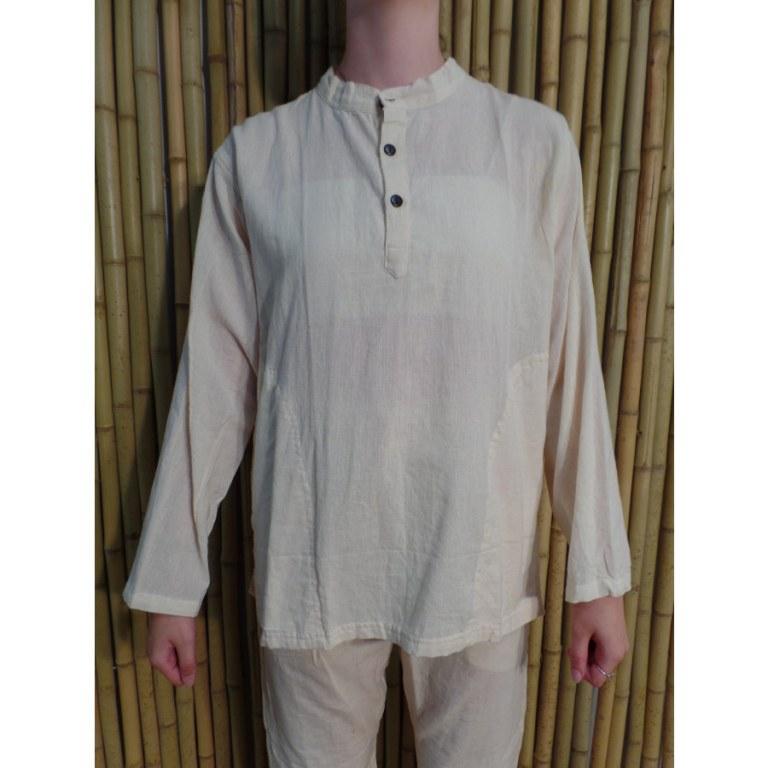 Chemise Parbat blanc cassé
