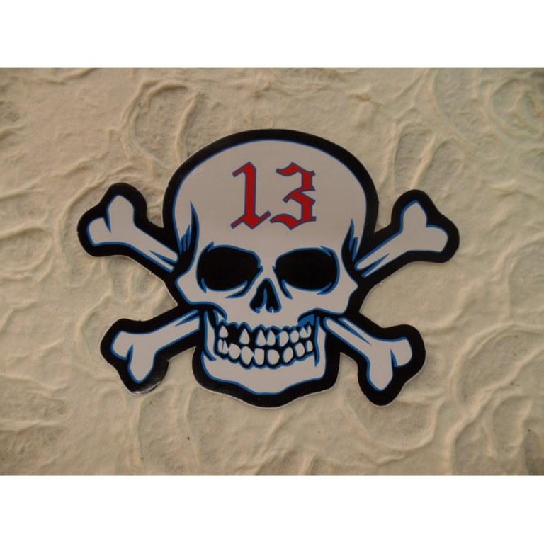 Autocollant tête de mort 13