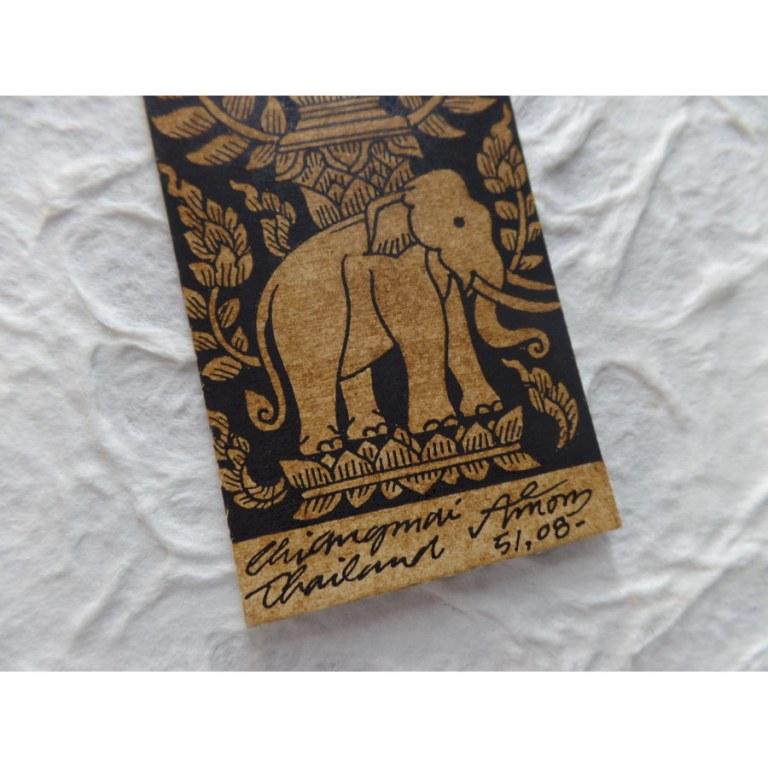 Marque page le vase et l'éléphant