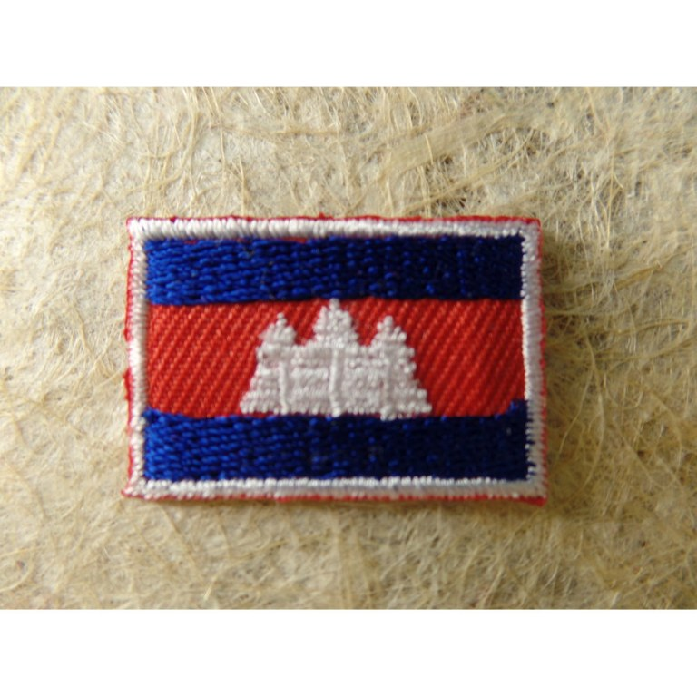 Patch ecusson imprime badge drapeau cambodge