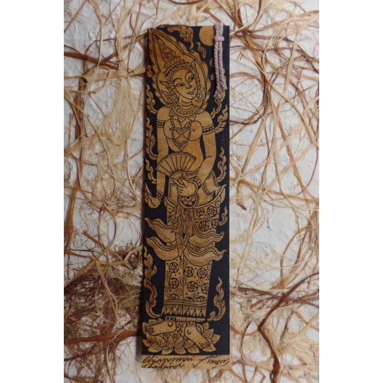 Marque page déesse hindoue à l'éventail