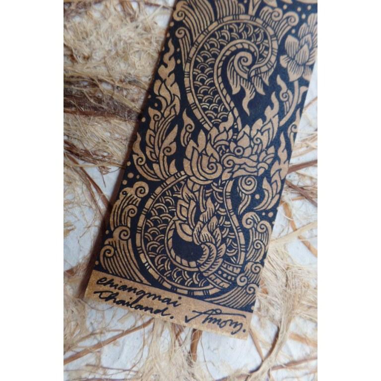 Marque page lotus/éléphant