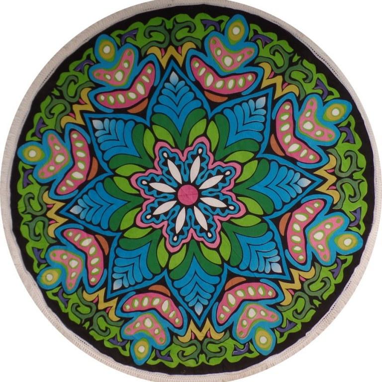 Nappe ronde mandala color