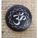 Badge Aum et fleur de lotus