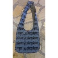 Besace Om sanskrit gris