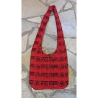 Besace Om sanskrit rouge