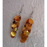 Pendants d'oreilles pétales oranges