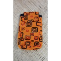 Pochette smartphone square orange
