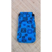 Pochette portable square bleu