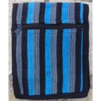 Sac passeport weaving noir gris bleu